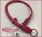 Preview: Zughalsband Leder 8mm/39-50cm pink