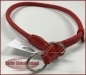 Preview: Zughalsband Leder 12mm/53-75cm rot