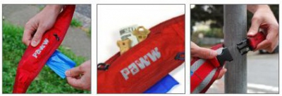 PAWW Pick Pocket Leine rot